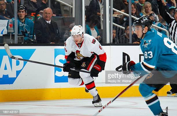 Bobby Ryan of the Ottawa Senators skates against the San Jose Sharks at SAP Center on October 12 2013 in San Jose California