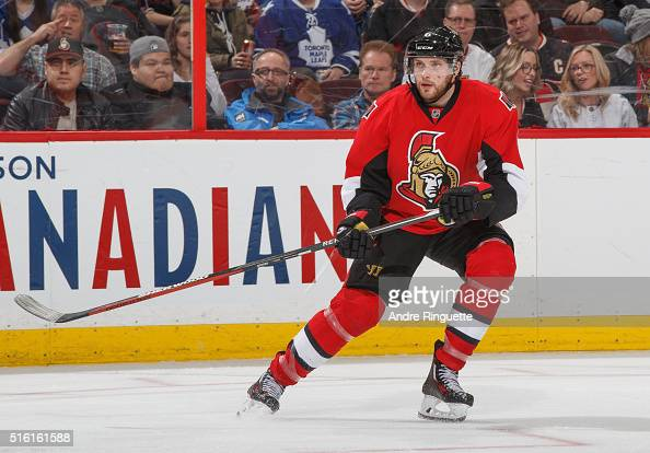 Bobby Ryan of the Ottawa Senators skates against the Toronto Maple Leafs at Canadian Tire Centre on March 12 2016 in Ottawa Ontario Canada