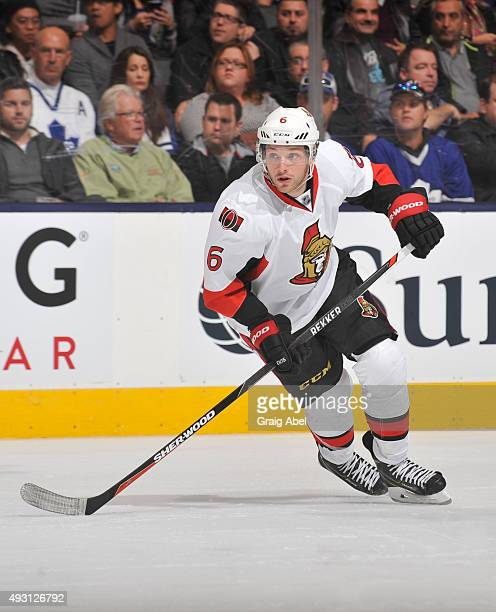 Bobby Ryan of the Ottawa Senators skates during NHL game action against the Toronto Maple Leafs October 10 2015 at Air Canada Centre in Toronto...