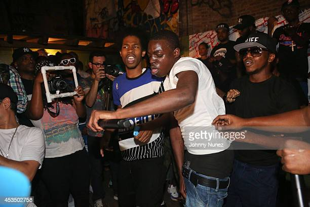 Bobby Shmurda performs during ALife Sessions Presents Bobby Shmurda Yo Gotti on August 11 2014 in New York City