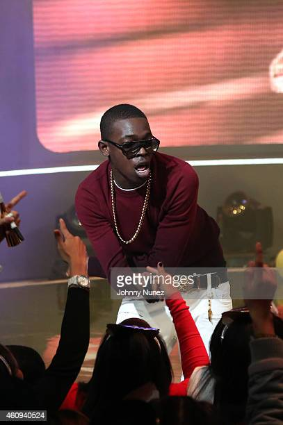 Bobby Shmurda performs during BET's '106 Party' at BET Studios on December 12 in New York City