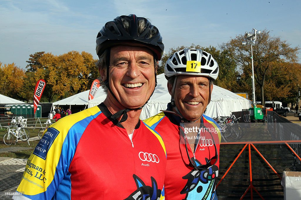 <a gi-track='captionPersonalityLinkClicked' href=/galleries/search?phrase=Bobby+Shriver&family=editorial&specificpeople=226558 ng-click='$event.stopPropagation()'>Bobby Shriver</a> and Challenge participant attend the Audi Best Buddies Challenge: Washington, D.C. on October 20, 2012 in Washington, DC.