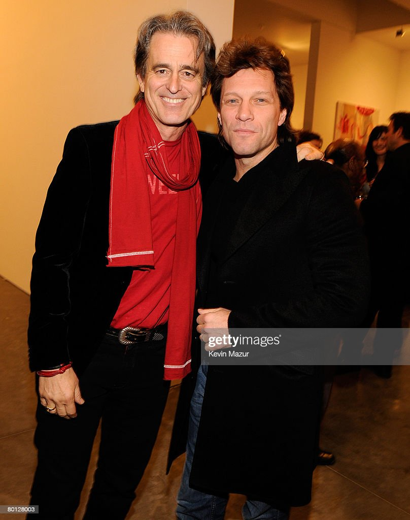 red cocktail party photos and images getty images bobby shriver and musician jon bon jovi attend the red auction to benefit aids