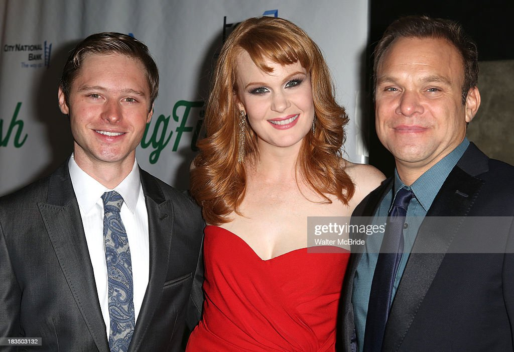 Bobby Steggert, Kate Baldwin and Norbert Leo Butz attend the 'Big Fish' Broadway Opening Night after party at Roseland Ballroom on October 6, 2013 in New York City.