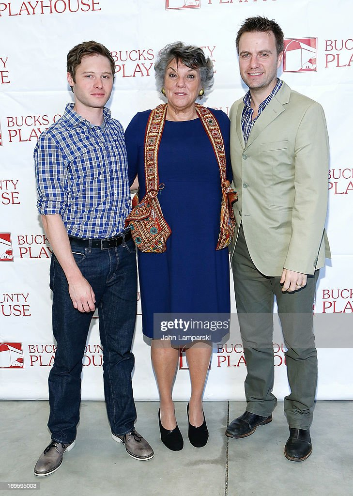 Bobby Steggert, Tyne Daly and Manoel Felciano attend 2013 Bucks County Playhouse Summer Season Press Preview at Signature Theater on May 28, 2013 in New York City.