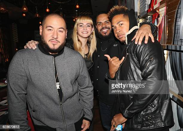 Bobby Trends Annalise Azadian DJ Enuff and Reasn attend The Fabolous Week Dinner Hosted By Clark Kent at Vandal on November 15 2016 in New York City