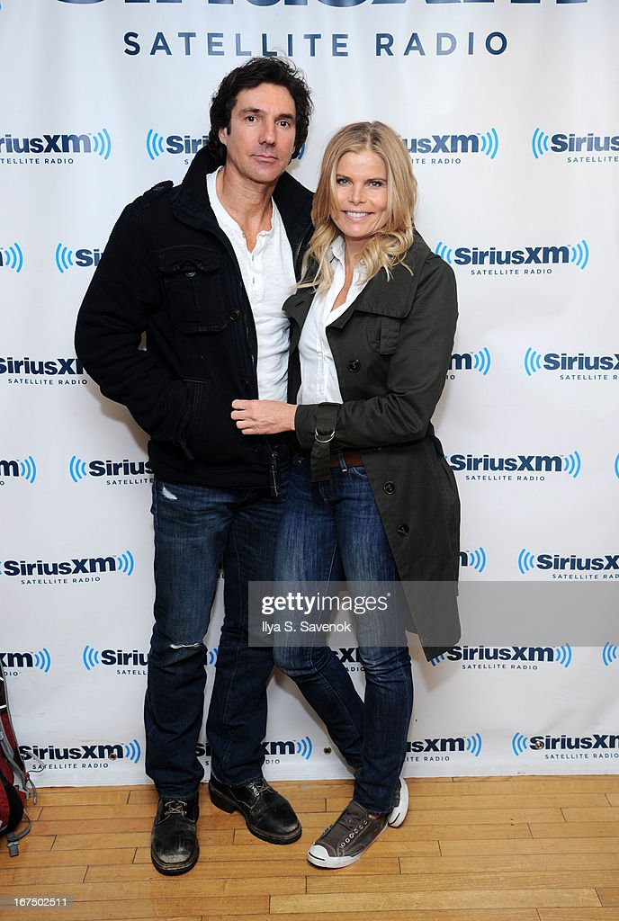 Bobby Williams and <a gi-track='captionPersonalityLinkClicked' href=/galleries/search?phrase=Mariel+Hemingway&family=editorial&specificpeople=212955 ng-click='$event.stopPropagation()'>Mariel Hemingway</a> visit the SiriusXM Studios on April 25, 2013 in New York City.