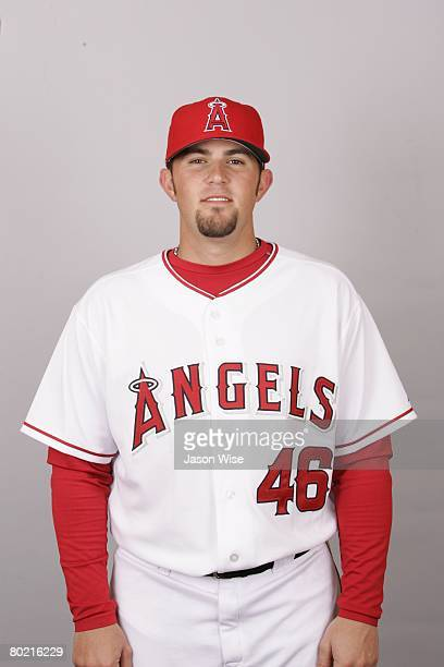 Bobby Wilson of the Los Angeles Angels of Anaheim poses for a portrait during photo day at Tempe Diablo Stadium on February 22 2008 in Tempe Arizona
