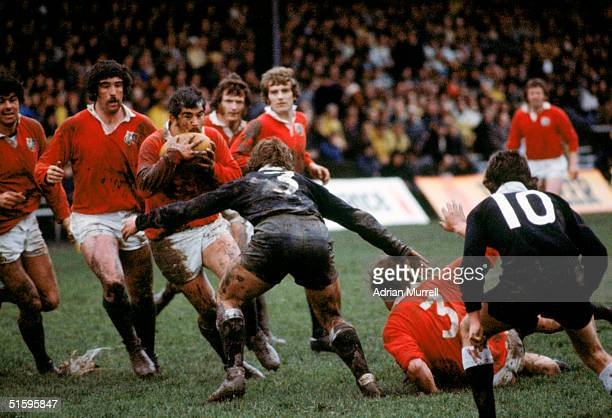 Bobby Windsor of the British Lions on the charge during the match between the NZ Juniors and the British Lions on July 13 1977 in Wellington New...