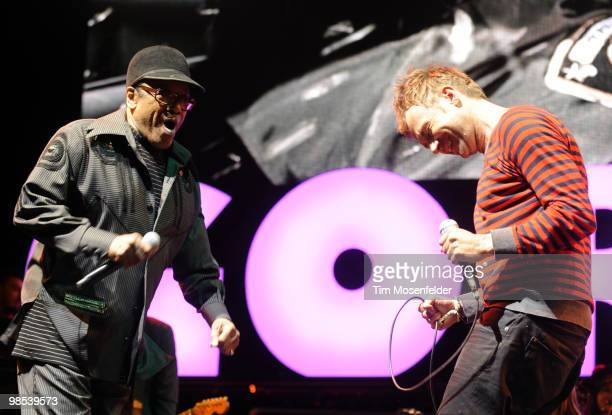 Bobby Womack and Damon Albarn of The Gorillaz perform as part of the Coachella Valley Music and Arts Festival at the Empire Polo Fields on April 18...