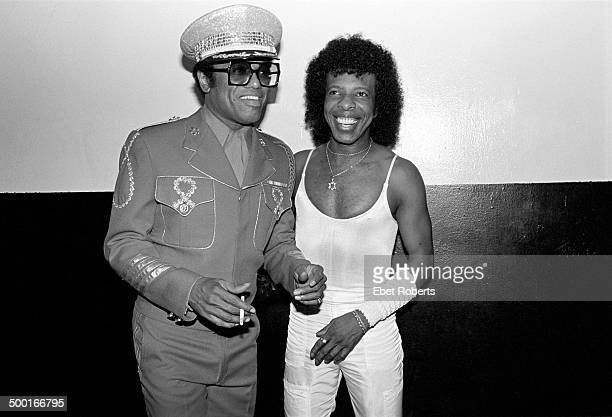Bobby Womack and Sly Stone backstage at the Beacon Theater in New York City on June 23 1984