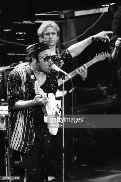 Bobby Womack performing at the Stand by Me AIDS Day Benefit concert at Wembley Arena London 1st April 1987