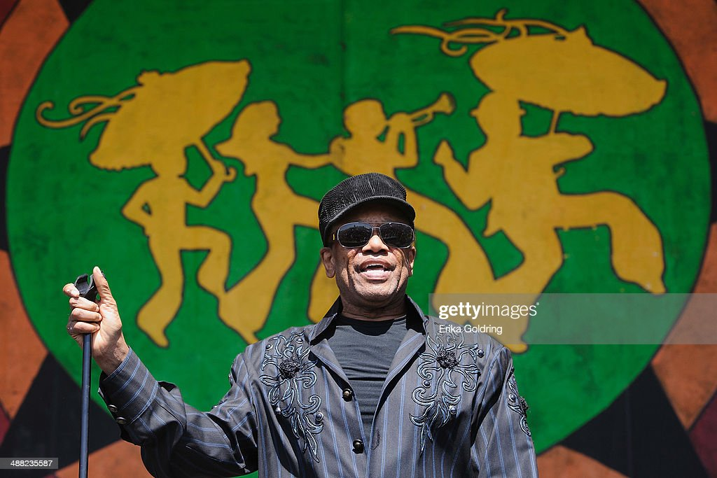 Bobby Womack performs during the 2014 New Orleans Jazz & Heritage Festival at Fair Grounds Race Course on May 4, 2014 in New Orleans, Louisiana.