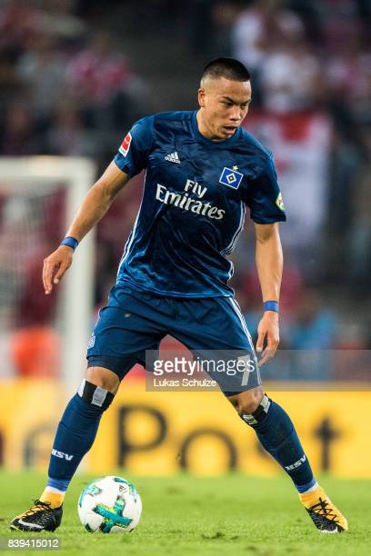 Bobby Wood of Hamburg in action during the Bundesliga match between 1 FC Koeln and Hamburger SV at RheinEnergieStadion on August 25 2017 in Cologne...
