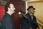 Bobby Z and Jimmy Jam during GRAMMY Up Close and Personal with Jimmy Jam at Winterlund Studios in Minneapolis MInnesotta United States