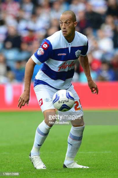 Bobby Zamora of QPR in action during the Sky Bet Championship match between Queens Park Rangers and Ipswich Town at Loftus Road on August 17 2013 in...