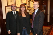 Bobby Zarin Jill Zarin and Josh Lockwood attend The American Red Cross and Jill and Bobby Zarin's Hirschfelds for Haiyan Relief at Suttons Robertsons...