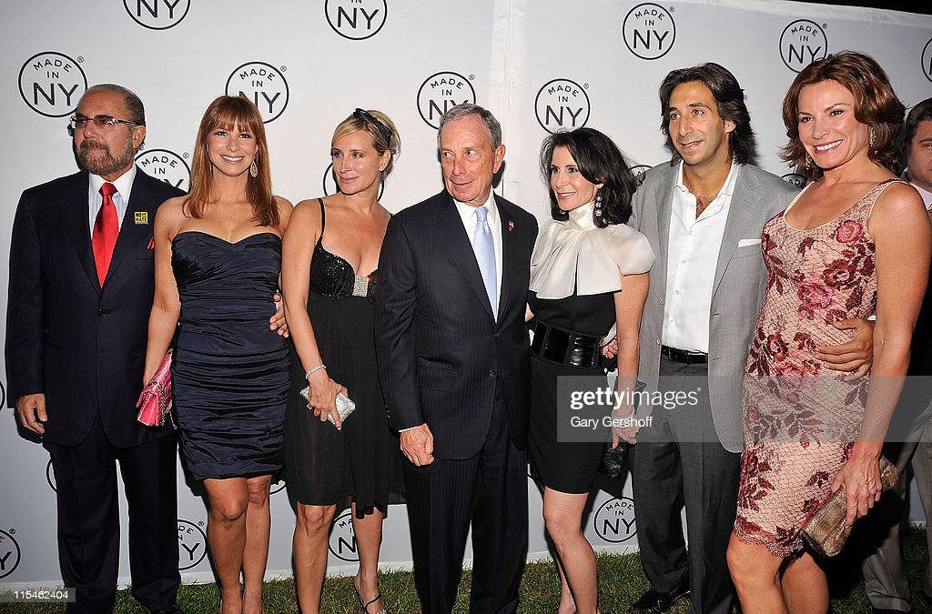 Bobby Zarin, Jill Zarin, Sonja Morgan, New York City Mayor Michael R. Bloomberg, Media & Film Commissioner Katherine Oliver, Jacques Azoulay, and LuAnn de Lesseps attend the 6th annual Made In NY awards at Gracie Mansion on June 6, 2011 in New York City.