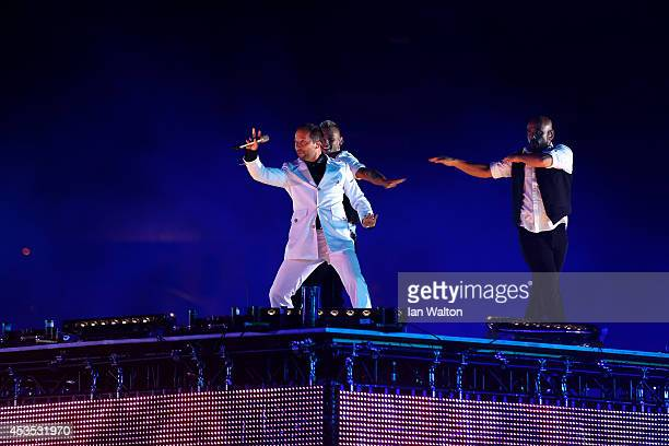Bobo performs at the opening ceremony during day one of the 22nd European Athletics Championships at Stadium Letzigrund on August 12 2014 in Zurich...