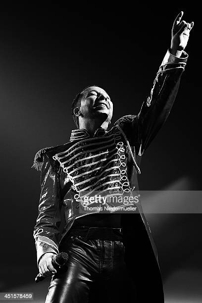 DJ Bobo performs during his premiere show 'Circus' at Europapark on November 23 2013 in Rust Germany