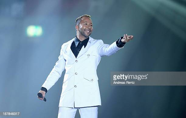 BoBo performs on stage during the Andrea Berg 'Die 20 Jahre Show' at Baden Arena on December 6 2012 in Offenburg Germany