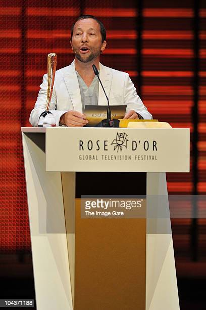 Bobo presents the 'Children and Youth' award at the 50th Rose d'Or Television Festival Award Ceremony on September 22 2010 in Lucerne Switzerland