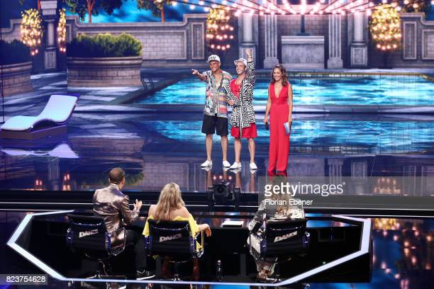Bobo Ruth Moschner Cale Kalay Luca Haenni Prince Damien and Nazan Eckes perform on stage during the 1st show of the television competition 'Dance...
