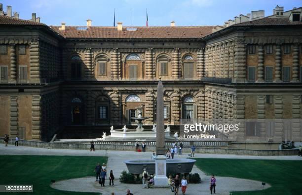 Boboli Gardens and the 17th century Pitti Palace (Palazzo Pitti) in Florence.