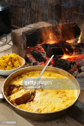 'Bobotie, traditional South African dish'