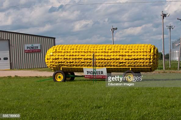 Bobs Crop Center Westby Wisconsin Giant Roadside Corncob advertisement