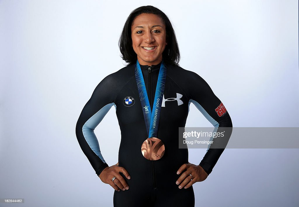 Bobsledder <a gi-track='captionPersonalityLinkClicked' href=/galleries/search?phrase=Elana+Meyers+-+Bobsledder&family=editorial&specificpeople=5631239 ng-click='$event.stopPropagation()'>Elana Meyers</a> poses for a portrait during the USOC Media Summit ahead of the Sochi 2014 Winter Olympics on September 29, 2013 in Park City, Utah.
