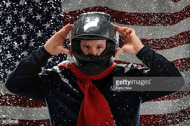 Bobsledder Steve Holcomb poses for a portrait during the NBC/USOC Promotional Photo Shoot on May 13 2009 at Smashbox Studios in Los Angeles California