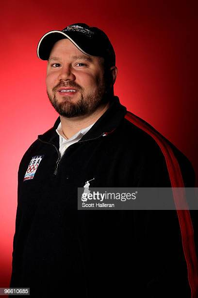 Bobsledder Steven Holcomb of the United States poses in the NBC Today Show Studio at Grouse Mountain on February 12 2010 in North Vancouver Canada