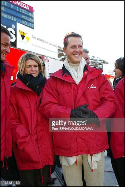 Bobsleigh world championship in Saint Moritz Switzerland on January 11 2002 Michael Schumacher and wife Corinna