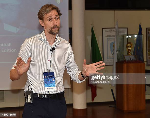 Bocconi Prof Mikkel Draebye attends during UEFA Certificate In Football Management SeminarItalian Edition at Coverciano on July 9 2015 in Florence...