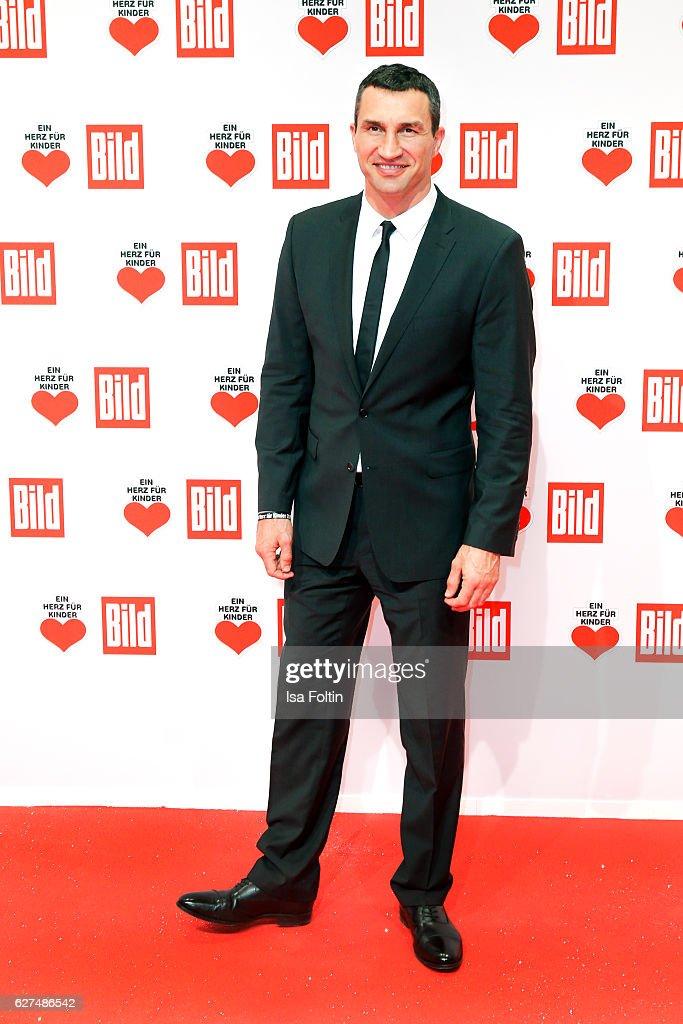 Bocing champion Wladimir Klitschko attends the Ein Herz Fuer Kinder gala on December 3, 2016 in Berlin, Germany.
