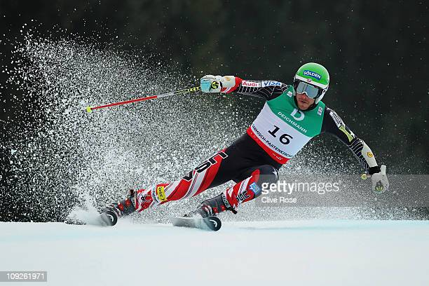 Bode Miller of the United States of America skis in the Men's Giant Slalom during the Alpine FIS Ski World Championships on the Kandahar course on...