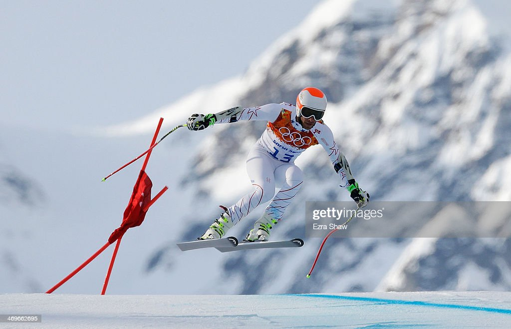 <a gi-track='captionPersonalityLinkClicked' href=/galleries/search?phrase=Bode+Miller&family=editorial&specificpeople=194742 ng-click='$event.stopPropagation()'>Bode Miller</a> of the United States skis during the Alpine Skiing Men's Super-G on day 9 of the Sochi 2014 Winter Olympics at Rosa Khutor Alpine Center on February 16, 2014 in Sochi, Russia.