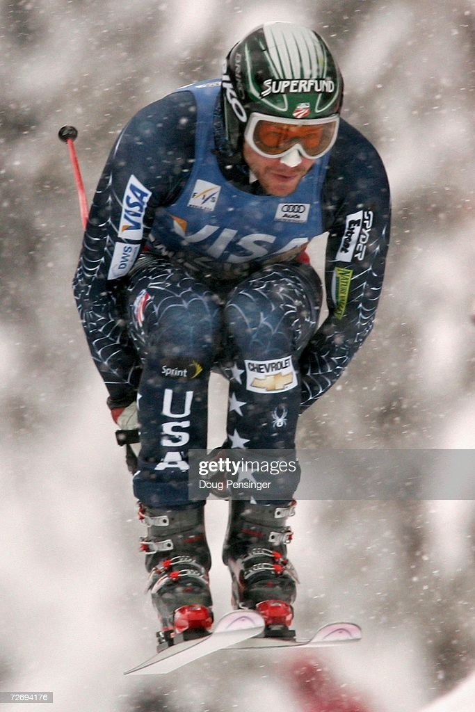 Bode Miller of the U.S. is shown enroute to winning the FIS Alpine World Cup Men's Downhill November 30, 2006 on Birds of Prey at Beaver Creek in Avon, Colorado.