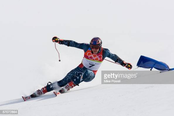 Bode Miller of the USA competes in Men's Giant Slalom final during Day 10 of the Turin 2006 Winter Olympic Games on February 20 2006 at Sestriere...