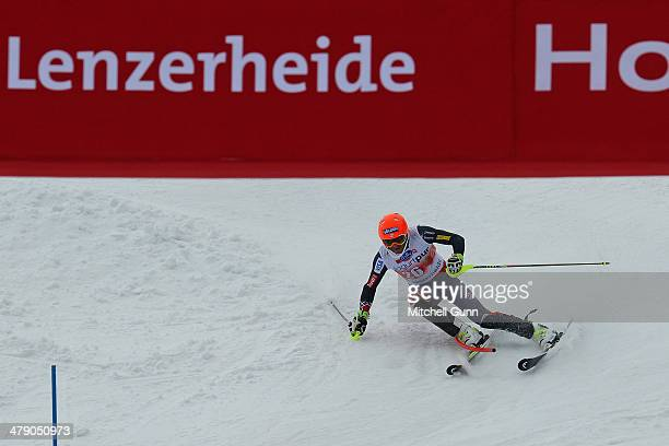 Bode Miller of The USA competes in the Audi FIS Alpine Skiing World Cup Finals Slalom on March 16 2014 in Lenzerheide Switzerland