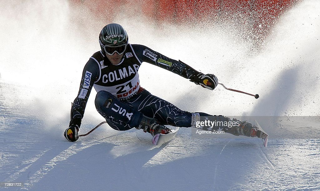 Bode Miller of the USA competes in the FIS Skiing World Cup Men's Super-G on December 15, 2006 in Val Gardena, Italy.
