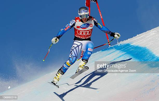 Bode Miller of the USA during the Audi FIS Alpine Ski World Cup Men's Downhill training on January 12 2012 in Wengen Switzerland