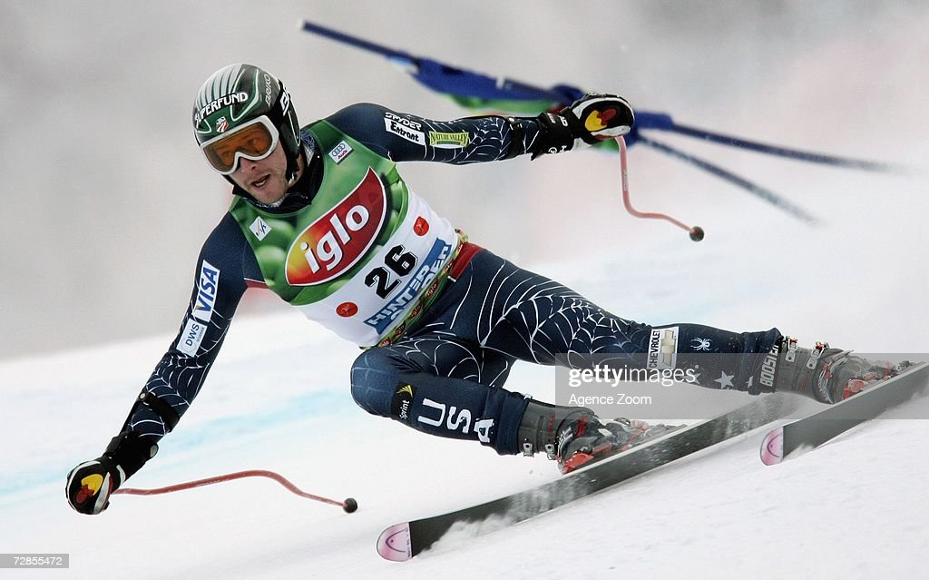 Bode Miller of USA competes on his way to taking 1st place during the FIS Skiing World Cup Men's Super-G on December 20, 2006 in Hinterstoder, Austria.