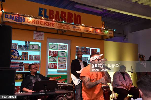 Bodega Bamz performs at Experience Harlem hosted by Airbnb and Ghetto Gastro on March 14 2017 in New York City