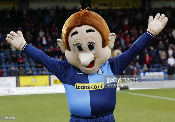 Bodger the Wycombe Wanderers mascot during the FA Cup first round match between Wycombe Wanderers and Swindon Town held on November 8 2003 at the...