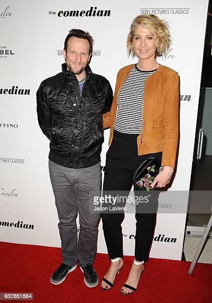 Bodhi Elfman and Jenna Elfman attend the premiere of 'The Comedian' at Pacific Design Center on January 27 2017 in West Hollywood California