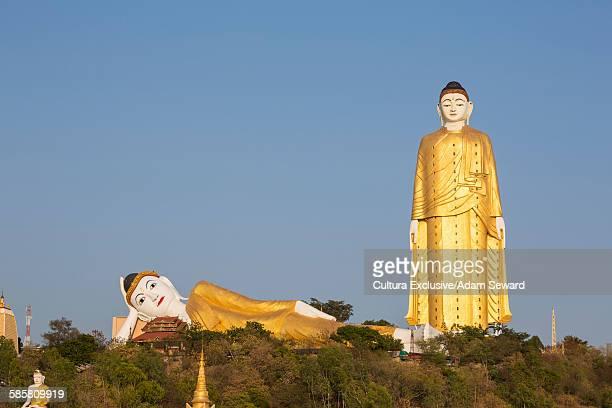 Bodhi Tataung, golden reclining and standing buddhas near Monywa, Sagaing Division, Myanmar