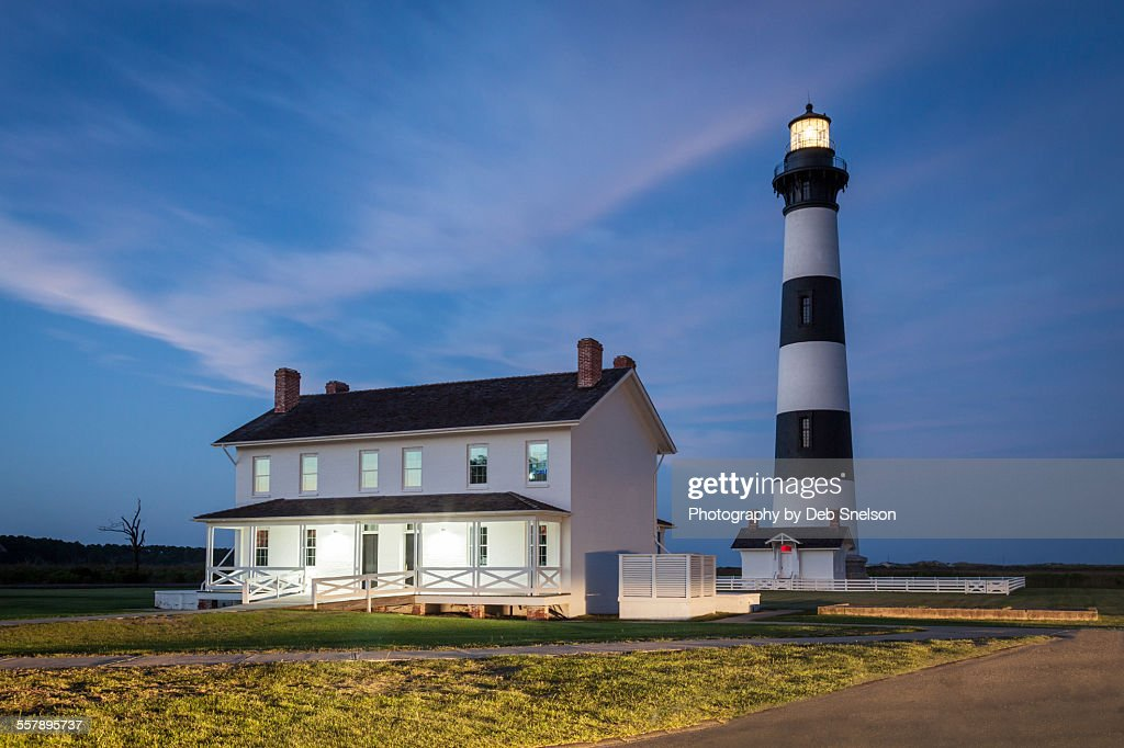 Bodie Lighthouse and Lightkeepers house in Nags Hd