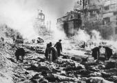 Bodies in the street after the allied fire bombing of Dresden Germany February 1945